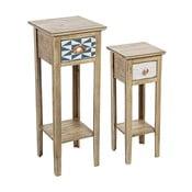 Sada 2 odkladacích stolíkov z jedľového dreva Bizzotto Roxette