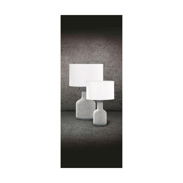 Sivá stolová lampa Trio Rodney, výška 38 cm