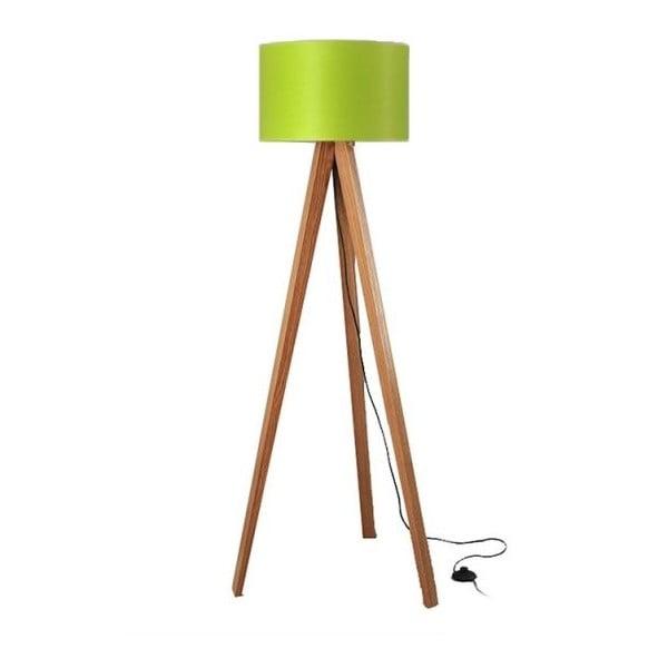 Stojacia lampa Tripod Lime/Walnut