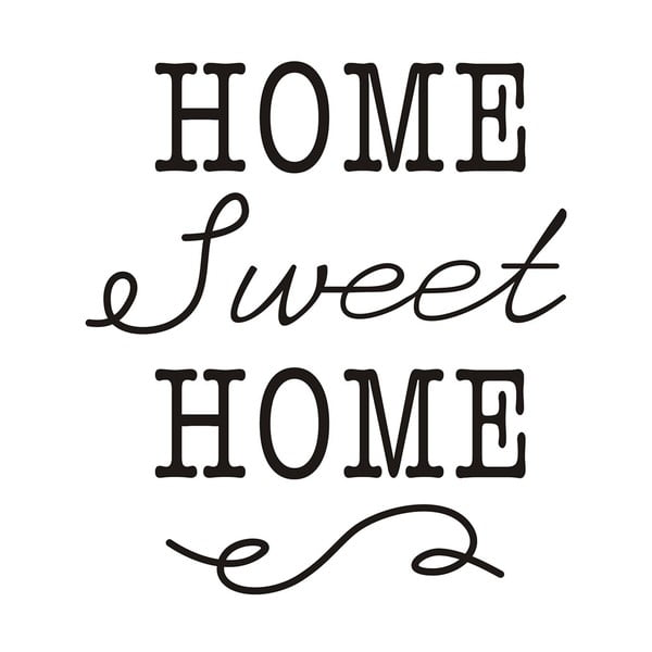 Dekoratívna samolepka Home Sweet Home, 40x35 cm