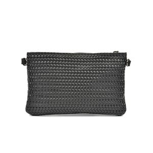 Čierna kožená kabelka Mangotti Mindy