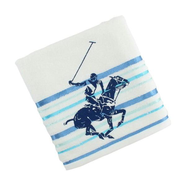 Bielo-modrý bavlnený uterák BHPC Velvet, 50x100 cm