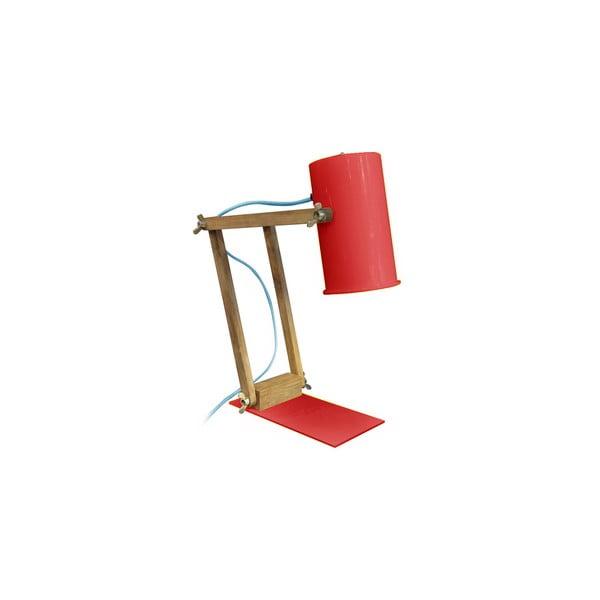 Červená stolová lampa Red Cartel Baltic, 58 cm
