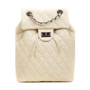 Svetlobéžový dámský kožený batoh Anna Luchini Magnarro