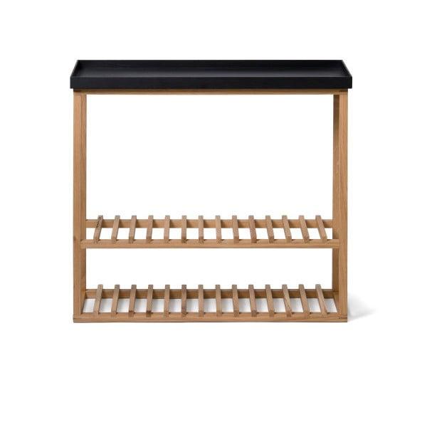 Polica na topánky/úložný stolík s čiernou doskou Wireworks Hello Storage