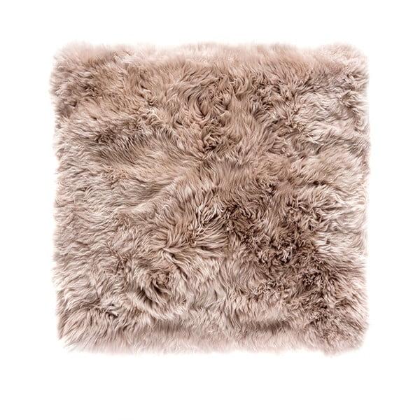 Svetlohnedý koberec z ovčej kožušiny Royal Dream Zealand, 70 x 70 cm
