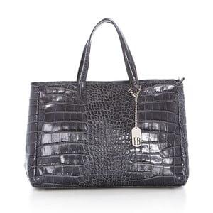 Sivá kožená kabelka Federica Bass Eris