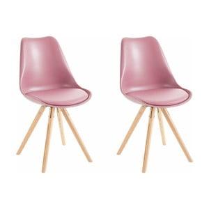 Sada 2 ružových jedálenských stoličiek Støraa Brenda