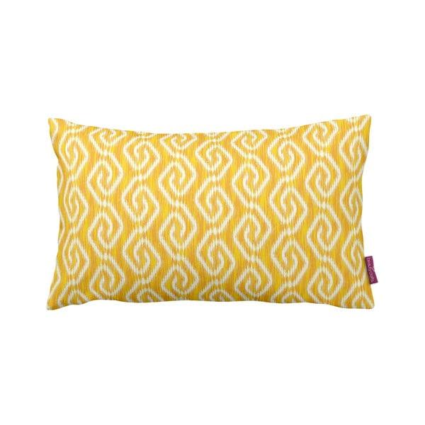 Žltý vankúš Yellow Pattern, 35x60cm