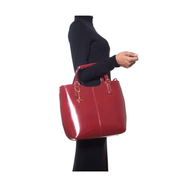 Kožená kabelka Luisa Vannini 3006 Rosso