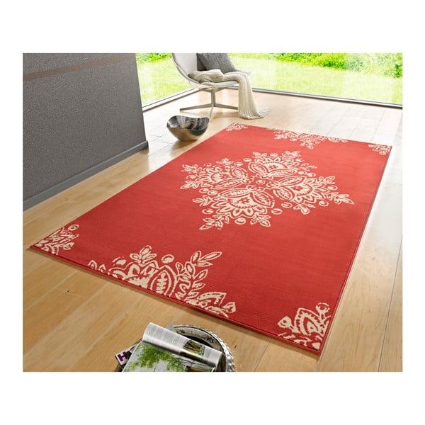 Červený koberec Hanse Home Gloria Blossom, 80 x 150 cm