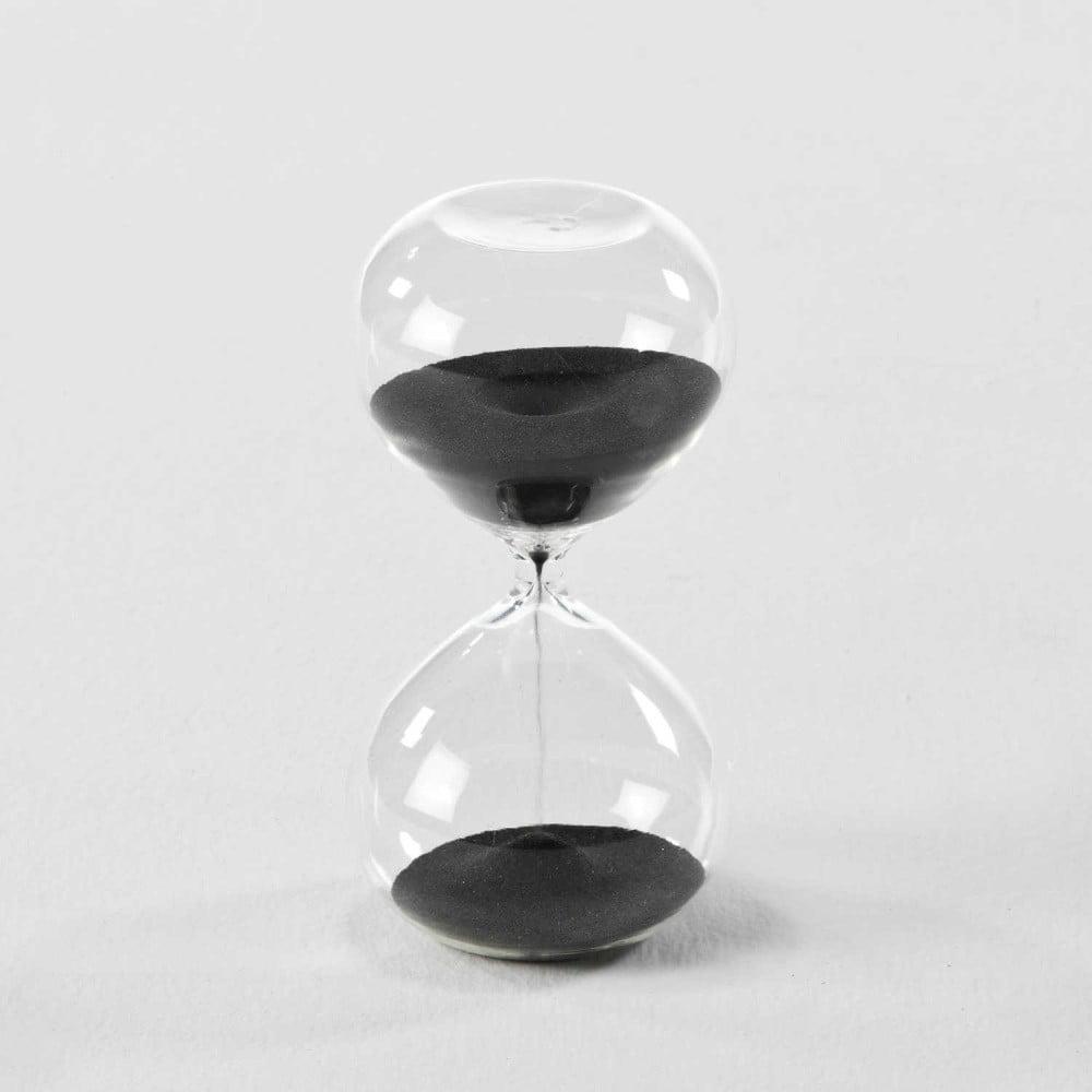 42a591e40 Presýpacie hodiny s čiernym pieskom Thai Natura, 9 × 18 cm