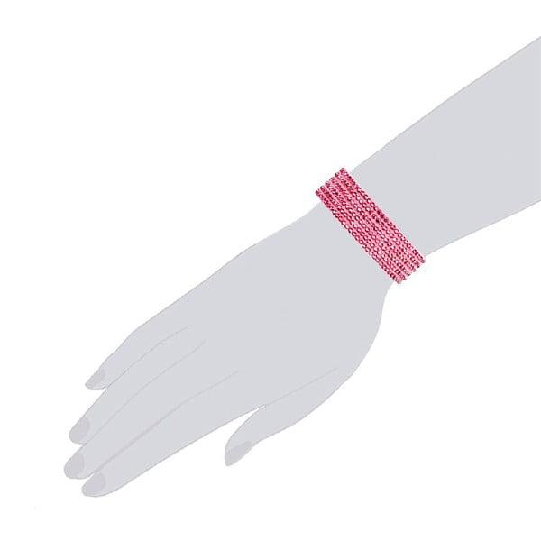 Náramok Simply Pink, 17 cm