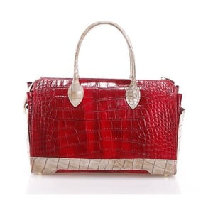 Kožená kabelka Livie, červená