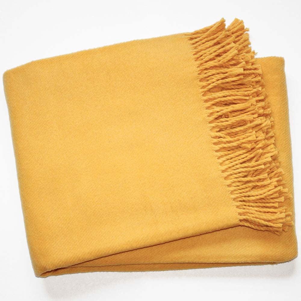 Žltá deka s podielom bavlny Euromant Basics, 140 x 180 cm