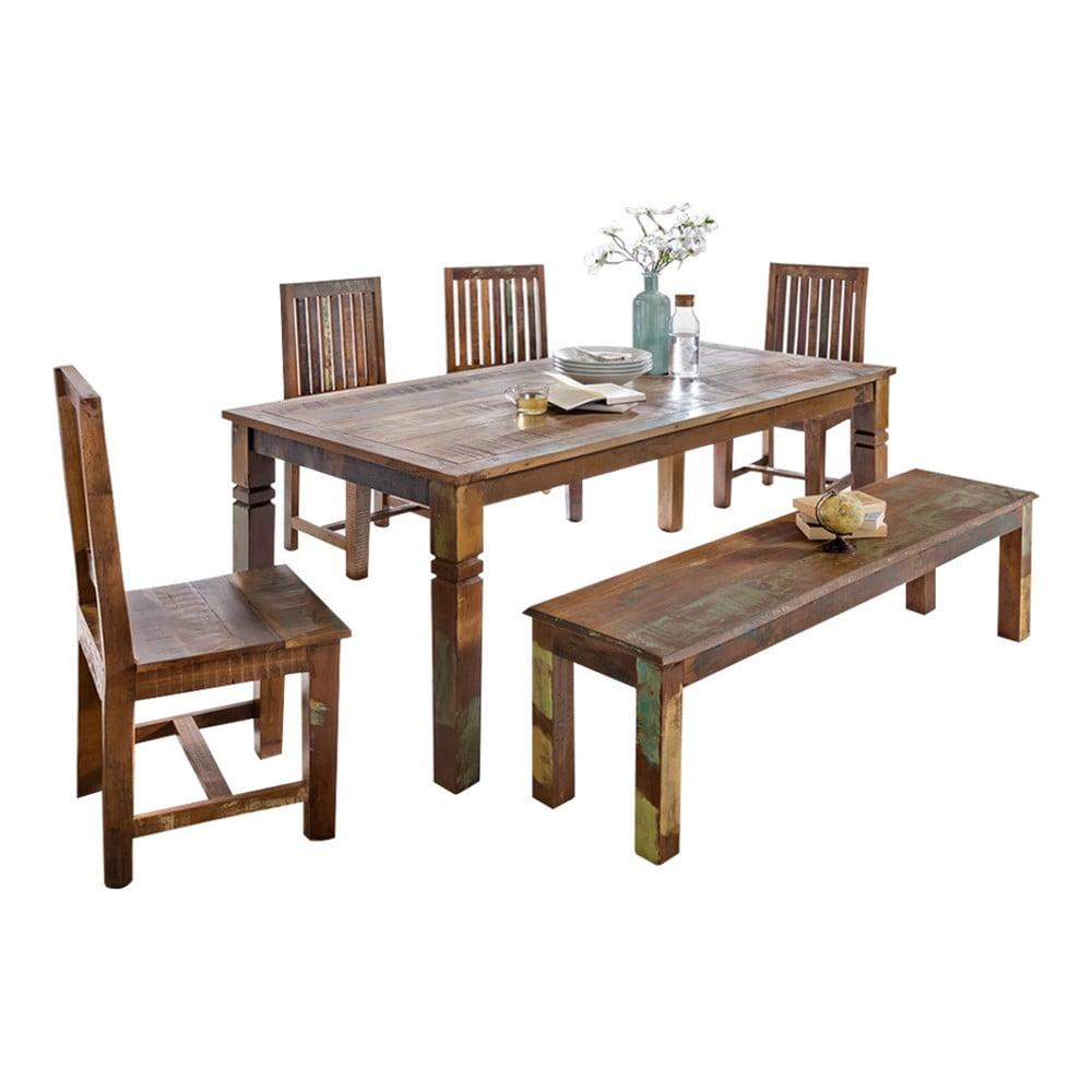Jedálenský stôl z recyklovaného mangového dreva Skyport KALKUTTA, 120 x 70 cm