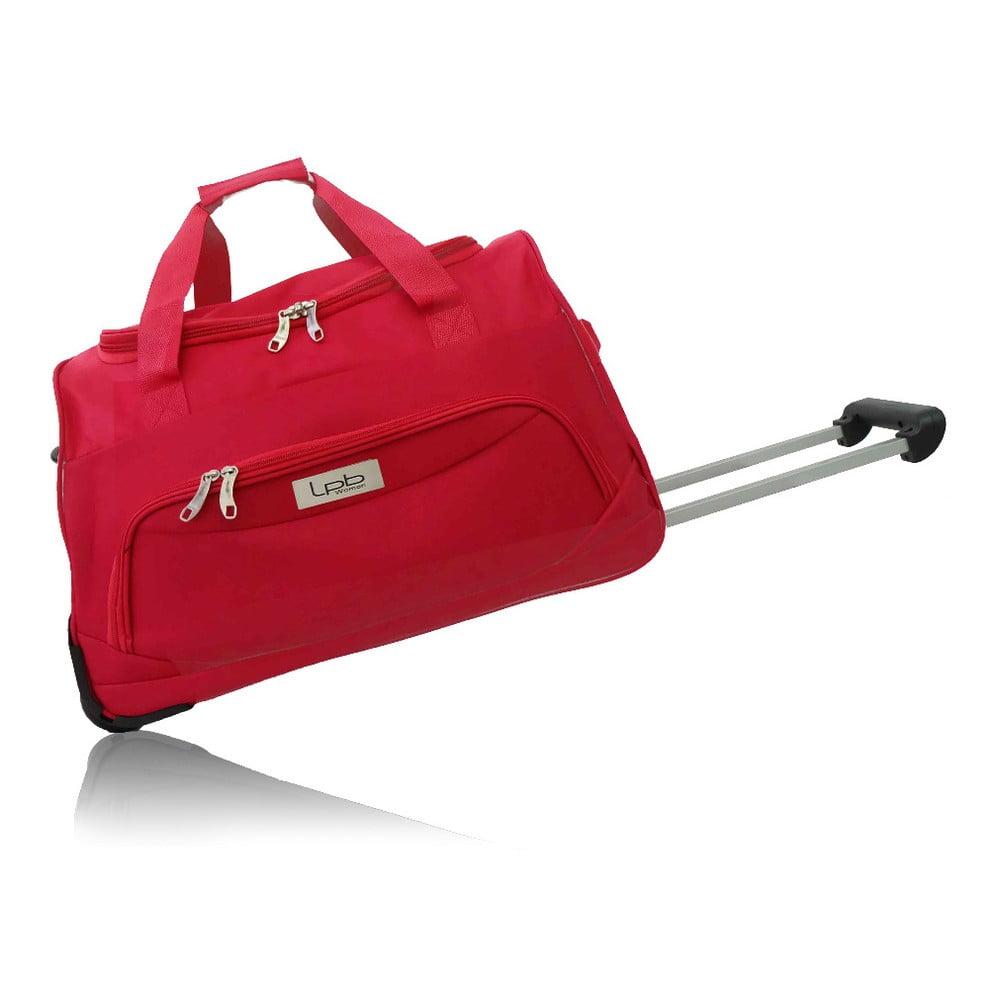 Červená cestovná taška na kolieskach Les P'tites Bombes Goteborg, 91 l