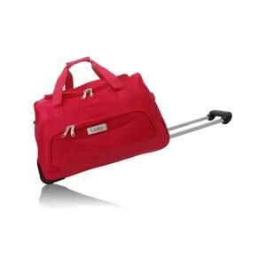 Červená cestovná taška na kolieskach Les P'tites Bombes Goteborg, 91l