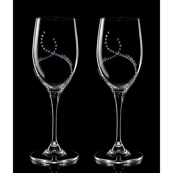 Sada 2 pohárov na víno Harmonia so Swarovski Elements v luxusnom balení