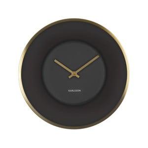 Čierne hodiny Karlsson Illusion