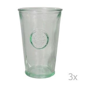 Sada 3 pohárov z recyklovaného skla Ego Dekor Authentic, 300 ml