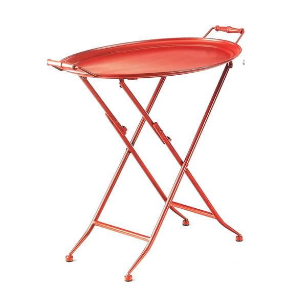 Červený stolík s táckou Novita Servetto