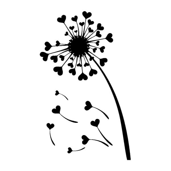 Samolepka Ambiance Hearts Dandelion