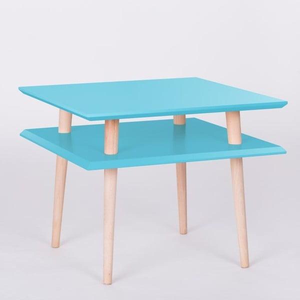 Konferenčný stolík UFO Square Dark Turquoise, 55 cm (šírka) a 45 cm (výška)
