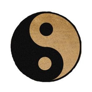 Guľatá rohožka Artsy Doormats Yin Yang, ⌀ 70 cm