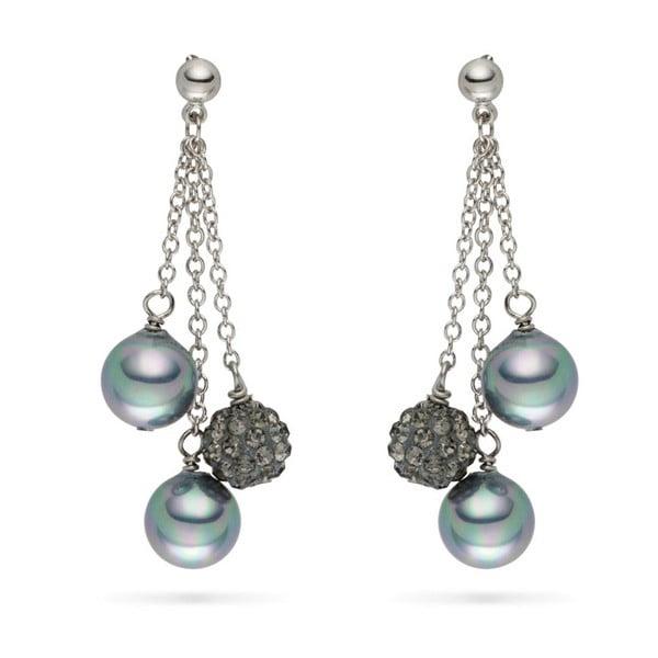 Perlové náušnice Nova Pearls Copenhagen Annie Grey