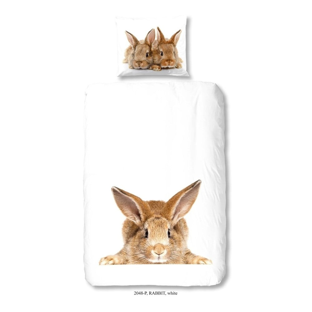 Detské bavlnené obliečky Good Morning Rabbit, 140 × 200 cm