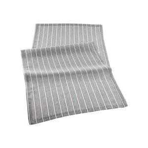 Sivý behúň na stôl Bella Maison Line, 150×50 cm