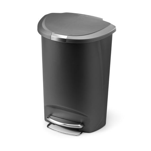 Pedálový kôš na odpadky Roundes 50 l, sivý