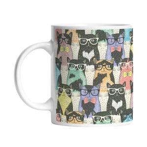 Keramický hrnček Cats in Glasses, 330 ml