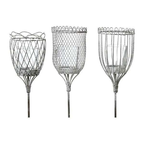 Sada 3 záhradných zapichovacích lampášov Boltze Laquer