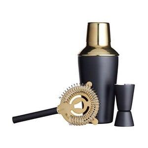 Čierno-zlatý set na miešanie koktailov Kitchen Craft Luxury