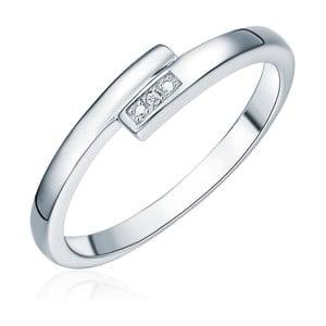 Strieborný prsteň s pravým diamantom Tess Diamonds Cornélie, veľ. 56 cm