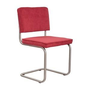 Sada 2 červených stoličiek Zuiver Ridge Brushed Rib