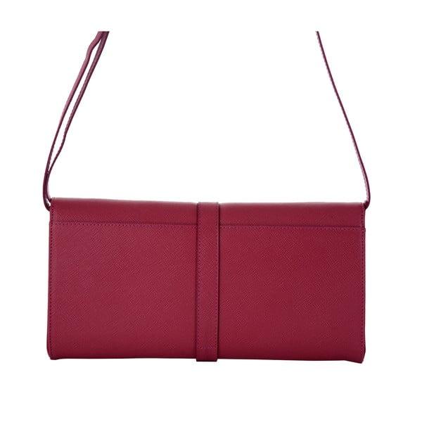 Ružová kožená kabelka Andrea Cardone 1010