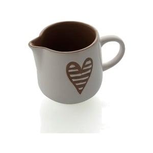Sivá kameninová nádoba na mlieko Brandani Heartbeat