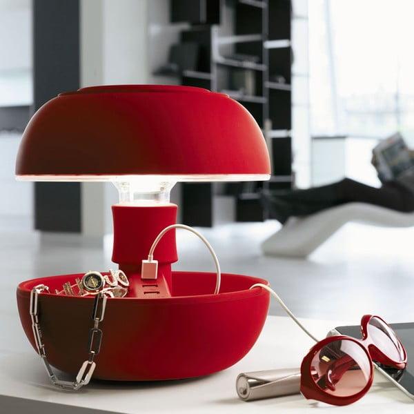 Stolná lampa a nabíjačka v jednom Joyo Soft, červená