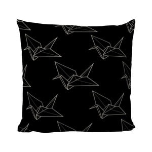 Vankúšik Black Shake Origami Bird, 50x50 cm