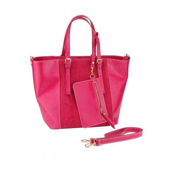 Kožená kabelka Gomeisa, ružová