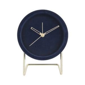 Tmavomodré stolové hodiny so zamatom Karlsson Lush