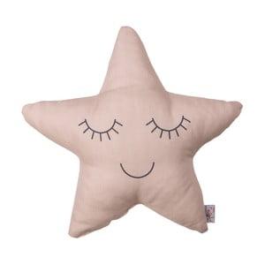 Béžovoružový detský vankúšik s prímesou bavlny Apolena Pillow Toy Star, 35 x 35 cm