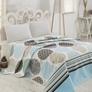 Ľahká bavlnená prikrývka cez posteľ Sole Beige, 200 x 230 cm