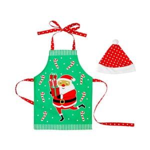 Set detskej zástery a čiapky Ladelle Santa Fun