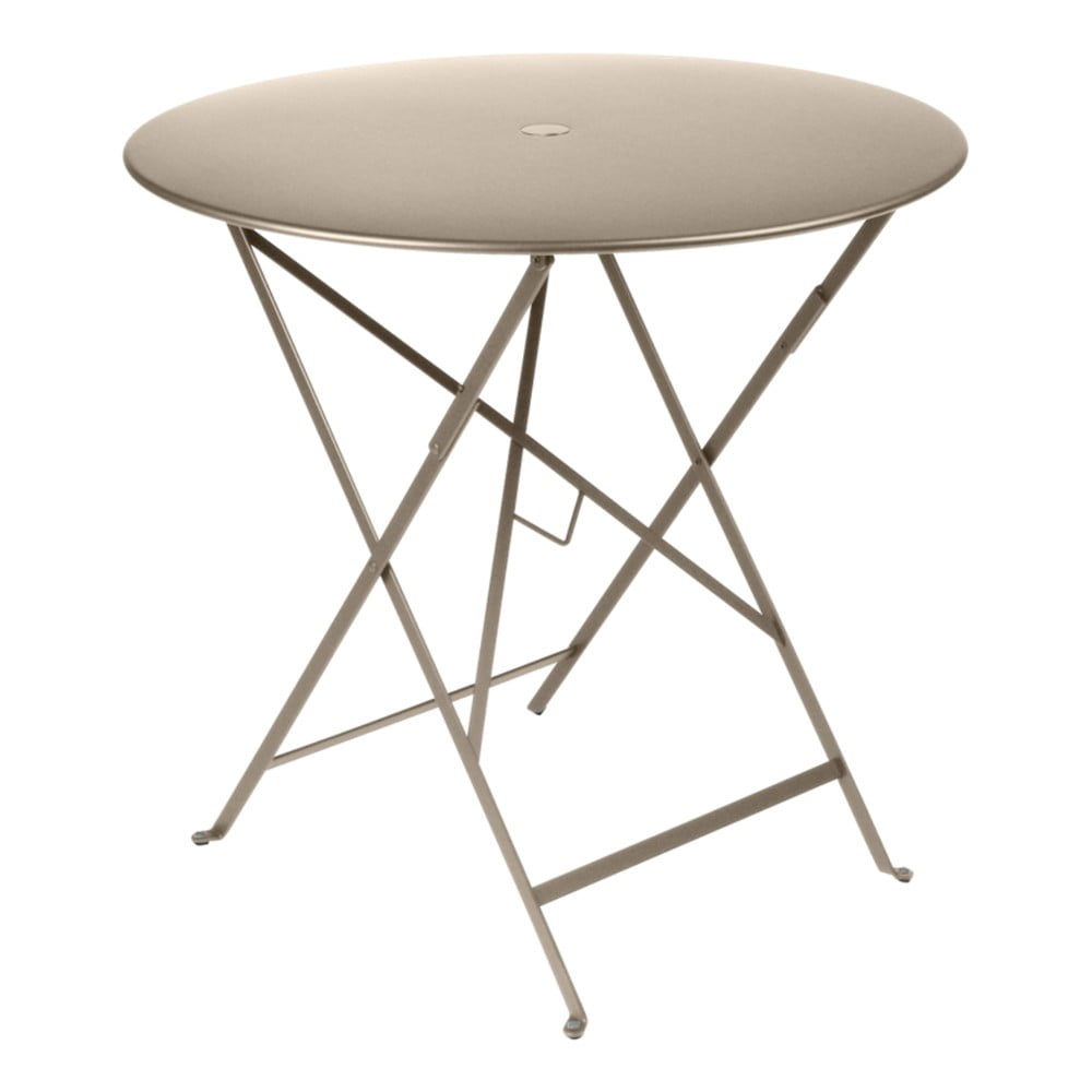 Béžový záhradný stolík Fermob Bistro, Ø 77 cm