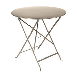 Béžový záhradný stolík Fermob Bistro, Ø77 cm