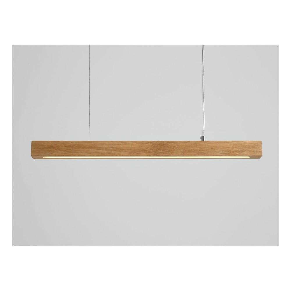 Závesné svietidlo z dubového dreva Custom Form Line Plus M
